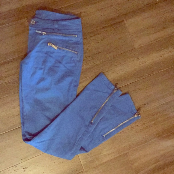 Michael Kors Denim - Michael Kors electric blue zipper jeans sz 0